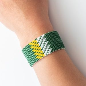 Jewelry - Green Bay Packers Loom Beaded Bracelet